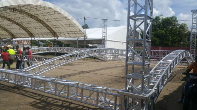 Highly Used Oudoor Event Aluminum Stage Lighting Truss With Canopy