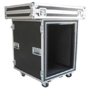 Aluminum Flight Case With Wheels / Handles Plastic 4U Rack Case