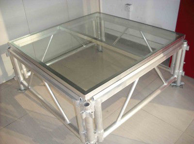 Mobile Acrylic Stage Platform / Transparent Square Stage Platform